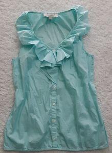 LOFT ruffled blouse